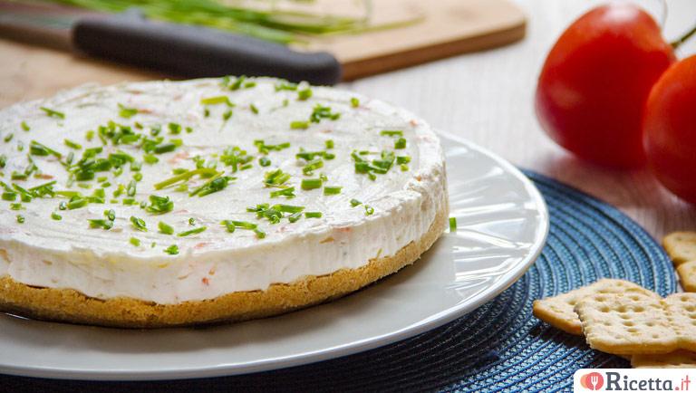 Cheesecake salata al salmone affumicato
