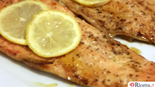 Filetto di trota salmonata al forno