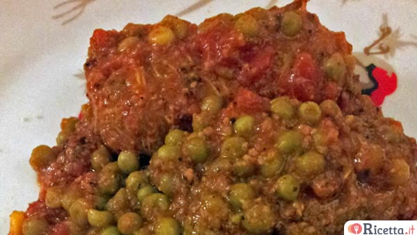 Ricetta involtini di carne con piselli