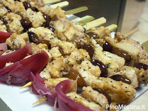 Ricetta spiedini di pesce gratinati al forno for Spiedini di pesce gratinati