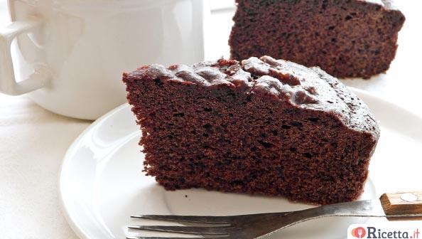 Torta con cioccolato fondente facile