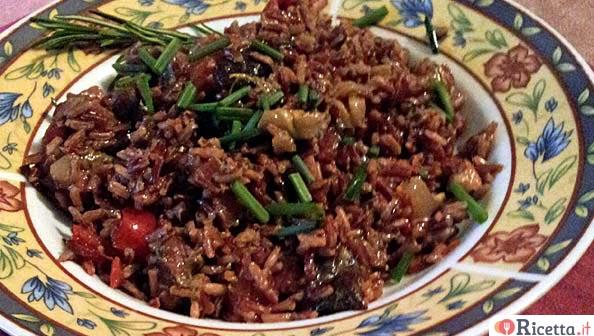 Ricetta riso rosso selvaggio fantasia di sapori for Pesce rosso costo